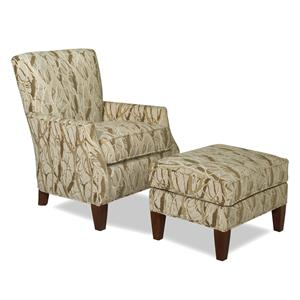 Craftmaster Accent Chairs Chair & Ottoman