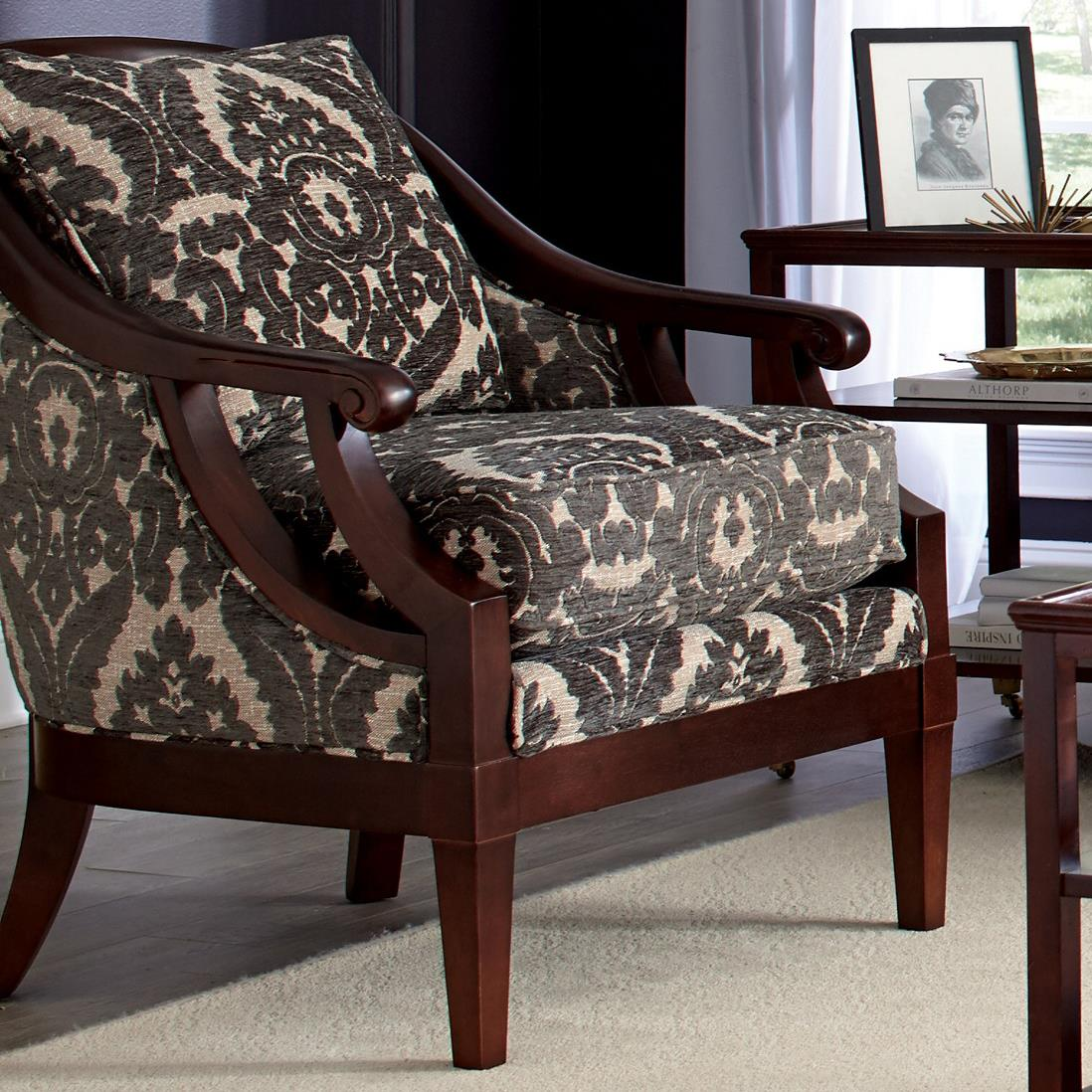 Craftmaster accent chairs traditional wood framed