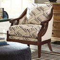 Craftmaster Accent Chairs Exposed Wood Chair - Item Number: 040010-INSIDE OUT-10