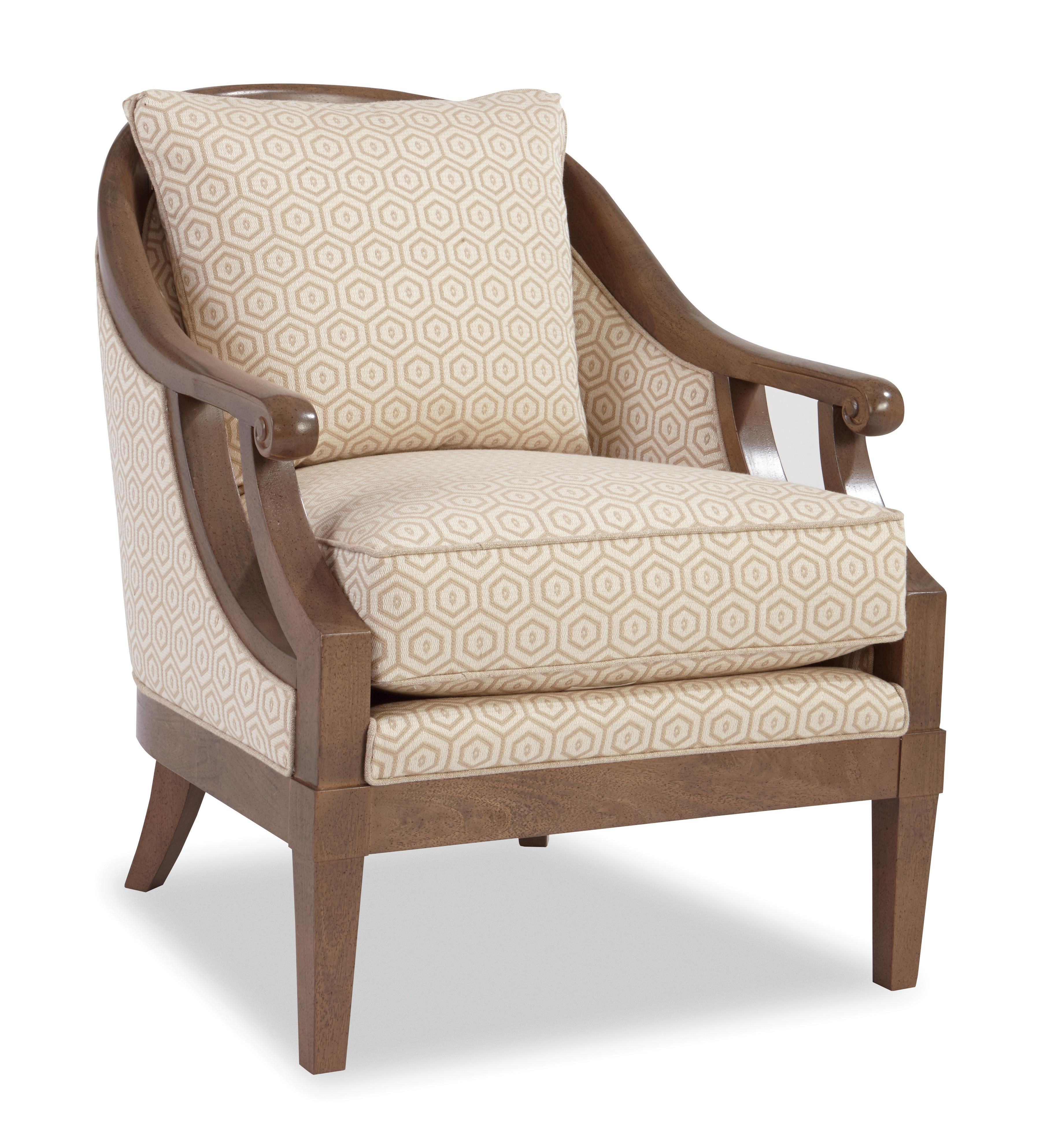 Craftmaster Accent Chairs Exposed Wood Chair   Item Number: 040010 NICNAC 10