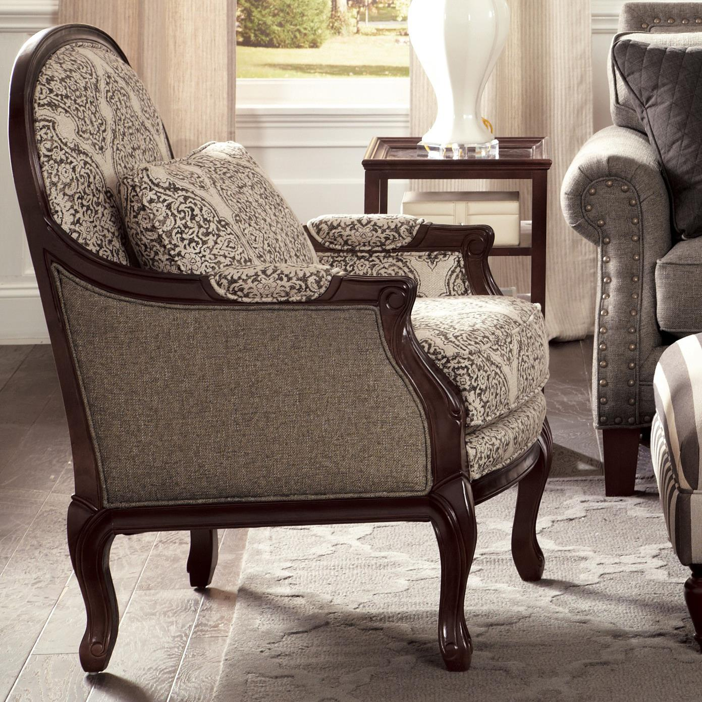 craftmaster accent chairs traditional chair with cabriole legs and