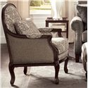 Craftmaster Accent Chairs Exposed Wood Chair - Item Number: 043910-DELMONICO+NOTION