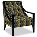 Craftmaster Accent Chairs Exposed Wood Chair - Item Number: 049410-CUBIST-45