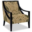Craftmaster Accent Chairs Exposed Wood Chair - Item Number: 049410-DESERT-17