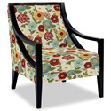 Craftmaster Accent Chairs Exposed Wood Chair - Item Number: 049410-LUNA-25