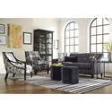 Craftmaster Accent Chairs Contemporary Exposed Wood Chair