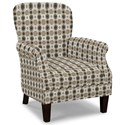 Craftmaster Accent Chairs Tight Back Accent Chair - Item Number: 053510-BLAST-08