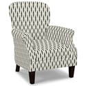 Craftmaster Accent Chairs Tight Back Accent Chair - Item Number: 053510-OPTICAL-23