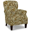Craftmaster Accent Chairs Tight Back Accent Chair - Item Number: 053510-ZINNIA-10