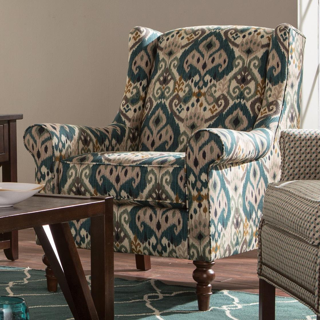 Craftmaster Accent Chairs Wing Back Chair With Traditional