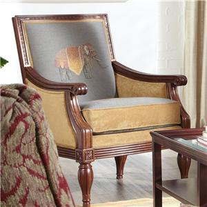 Craftmaster Accent Chairs Upholstered Exposed Wood Frame Chair