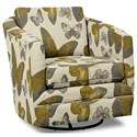 Craftmaster Accent Chairs Swivel Chair - Item Number: 063710SC-FLUTTERFLY-02