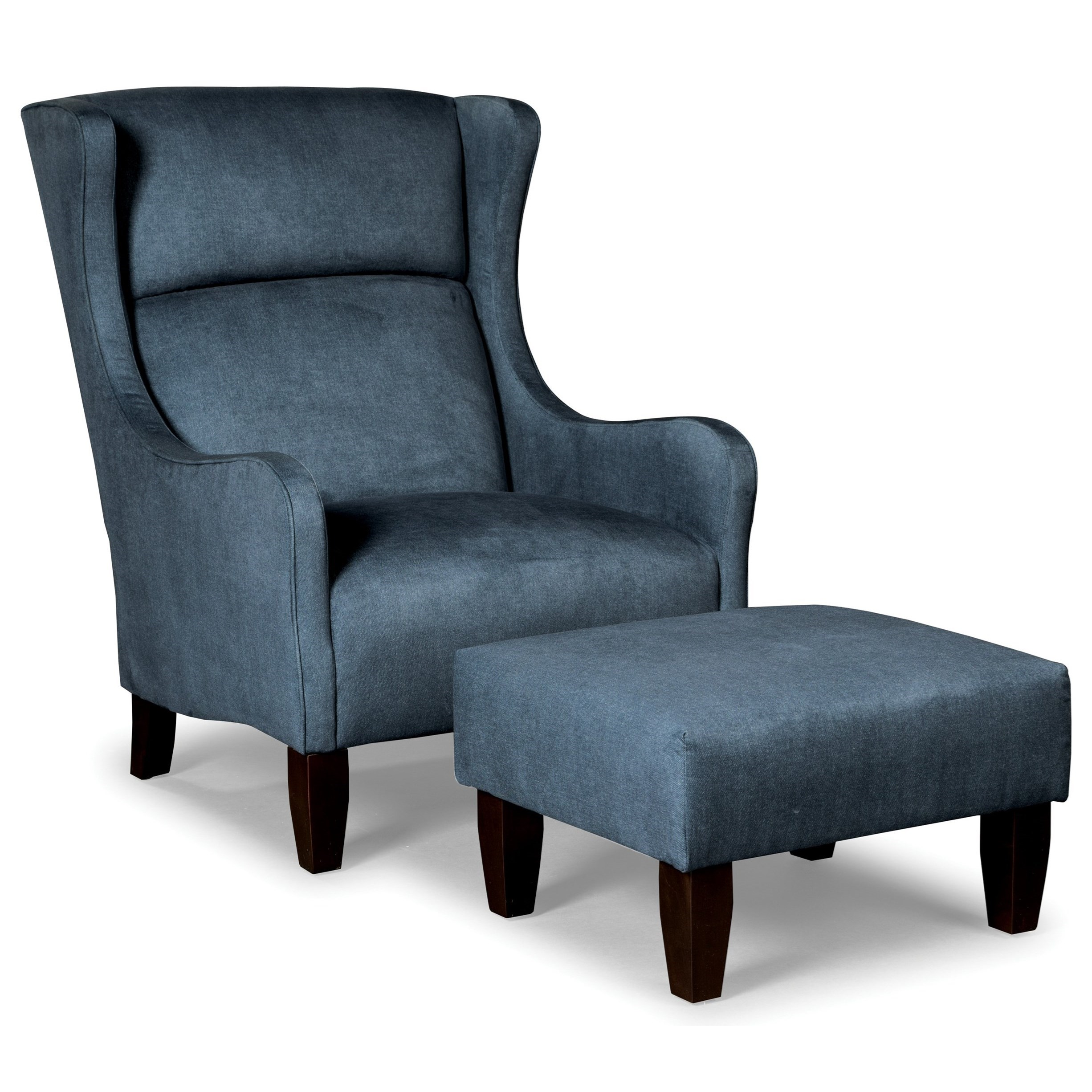 Craftmaster Accent Chairs Modern Wing Chair And Ottoman