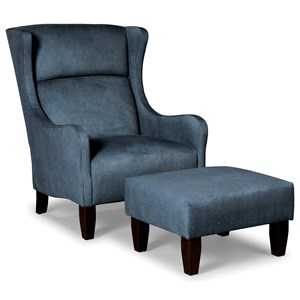 Craftmaster Accent Chairs Chair & Ottoman Set