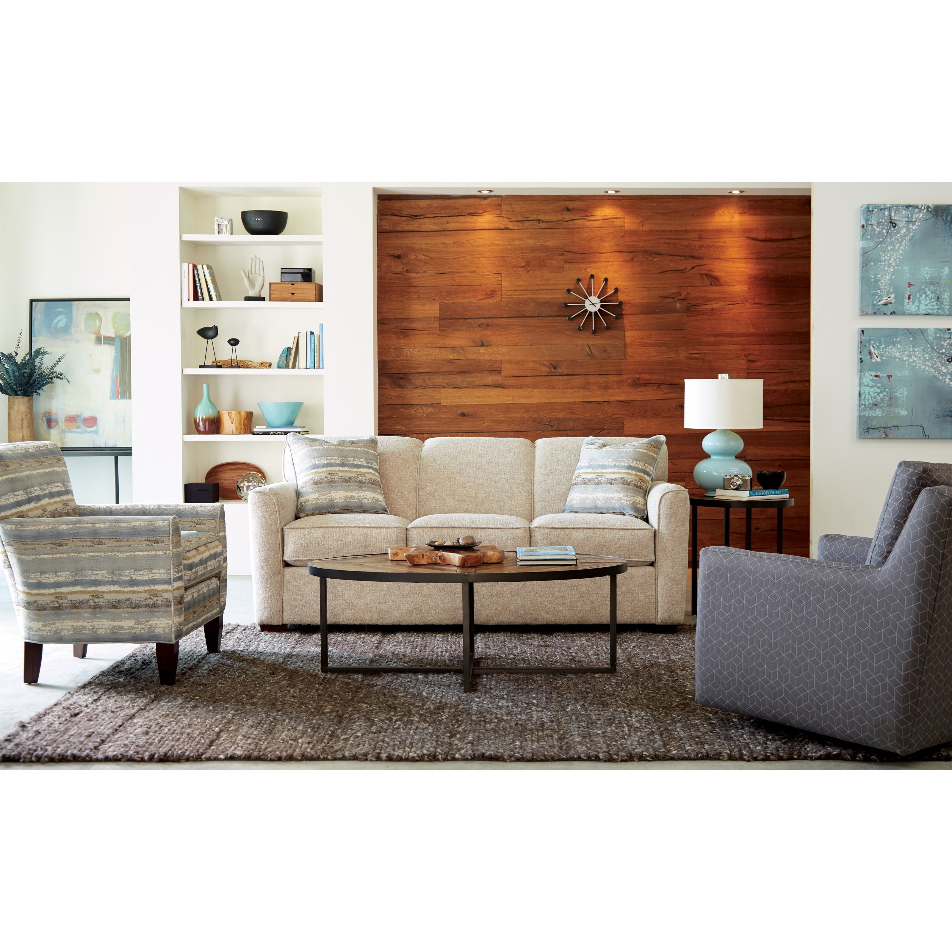 Sofa Mart Accent Chairs: Craftmaster Accent Chairs Accent Chair With Tapered Back
