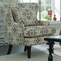 Cozy Life Accent Chairs Traditional Upholstered Wing Chair - Item Number: 085010-AUBUSSON-41
