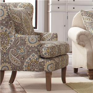 Cozy Life Accent Chairs Traditional Upholstered Wing Chair