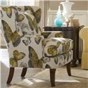 Cozy Life Accent Chairs Traditional Upholstered Wing Chair - Item Number: 085010-FLUTTERFLY-02