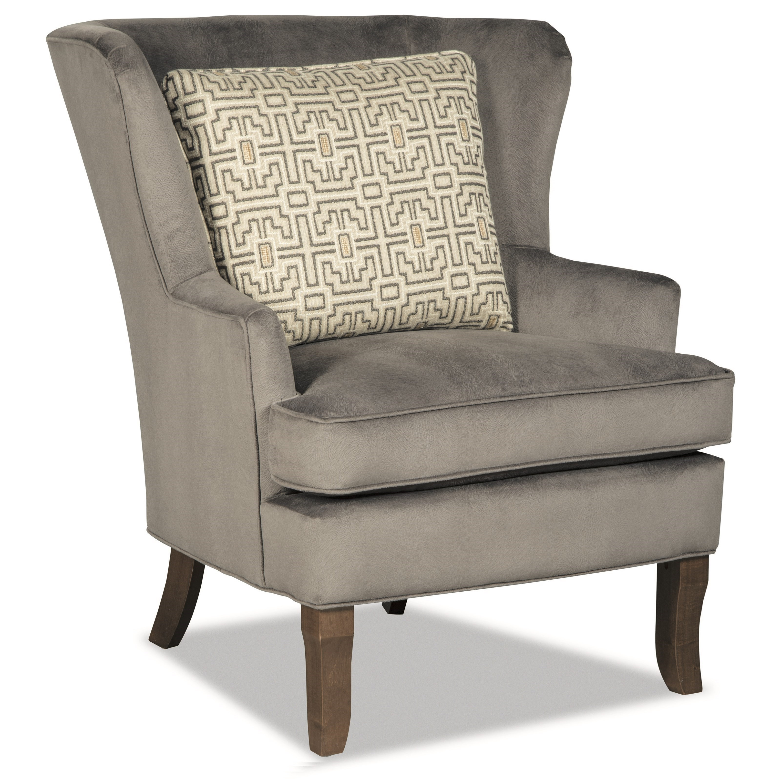 Craftmaster Accent Chairs Traditional Upholstered Wing Chair - Item Number 085010-HUNTCLUB-45  sc 1 st  Miskelly Furniture & Craftmaster Accent Chairs Traditional Upholstered Wing Chair with ...