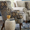 Craftmaster Accent Chairs Traditional Upholstered Wing Chair - Item Number: 085010-MEASURE-23