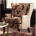 Cozy Life Accent Chairs Traditional Upholstered Wing Chair - Item Number: 085010-MYKONOS-26