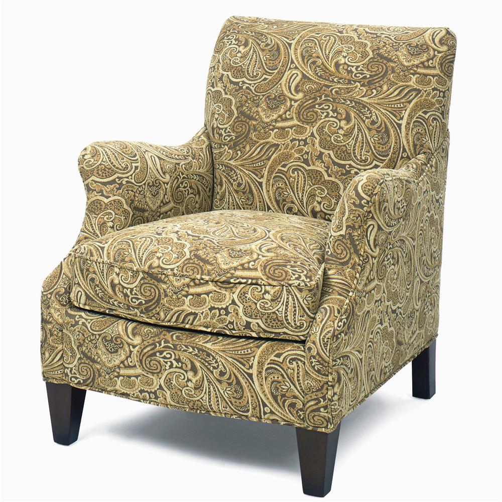Craftmaster Accent Chairs Upholstered Accent Chair With Exposed Wood Feet  And Cushioned Seat   AHFA   Upholstered Chair Dealer Locator
