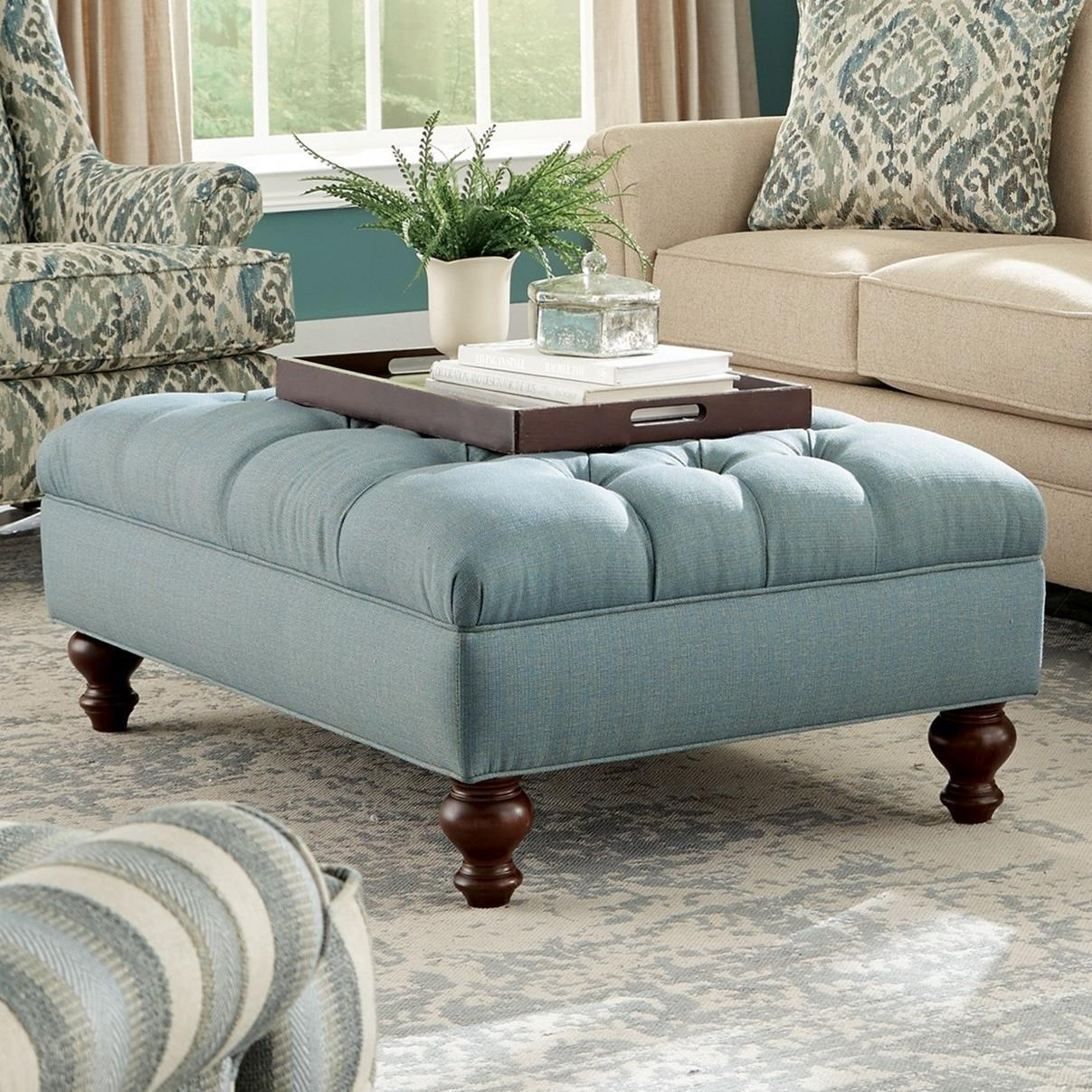 Ottoman In Living Room: Craftmaster Accent Ottomans Extra Large Tufted Ottoman