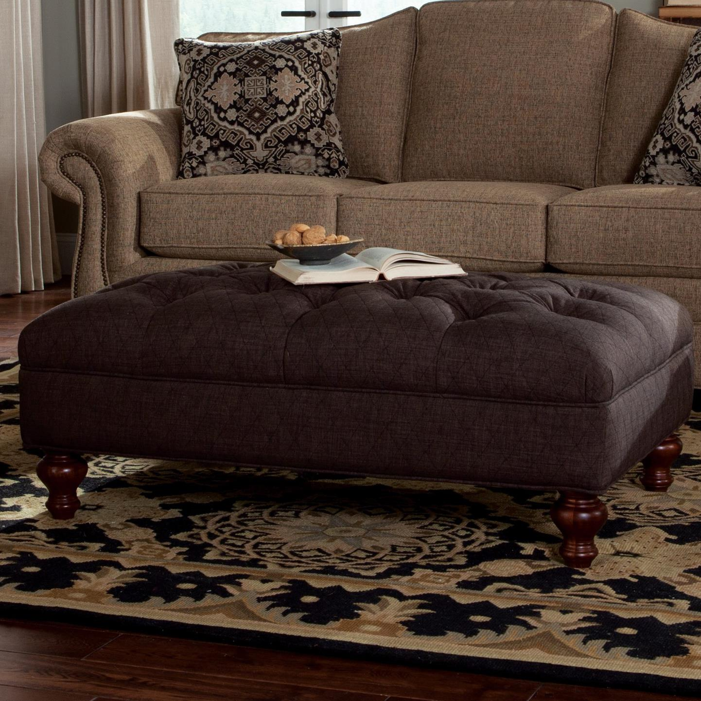 Craftmaster Accent Ottomans Extra Large Tufted Ottoman