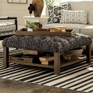 Craftmaster Accent Ottomans Ottoman with Storage Trays