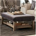 Craftmaster Accent Ottomans Storage Bench Ottoman with Tray Storage - Item Number: 03450-RIALTO-45