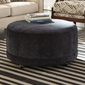 Craftmaster Accent Ottomans Round Contemporary Ottoman - Item Number: 89900-EVANNA-45