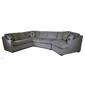 Craftmaster F9 Custom Collection Sectional Cuddler