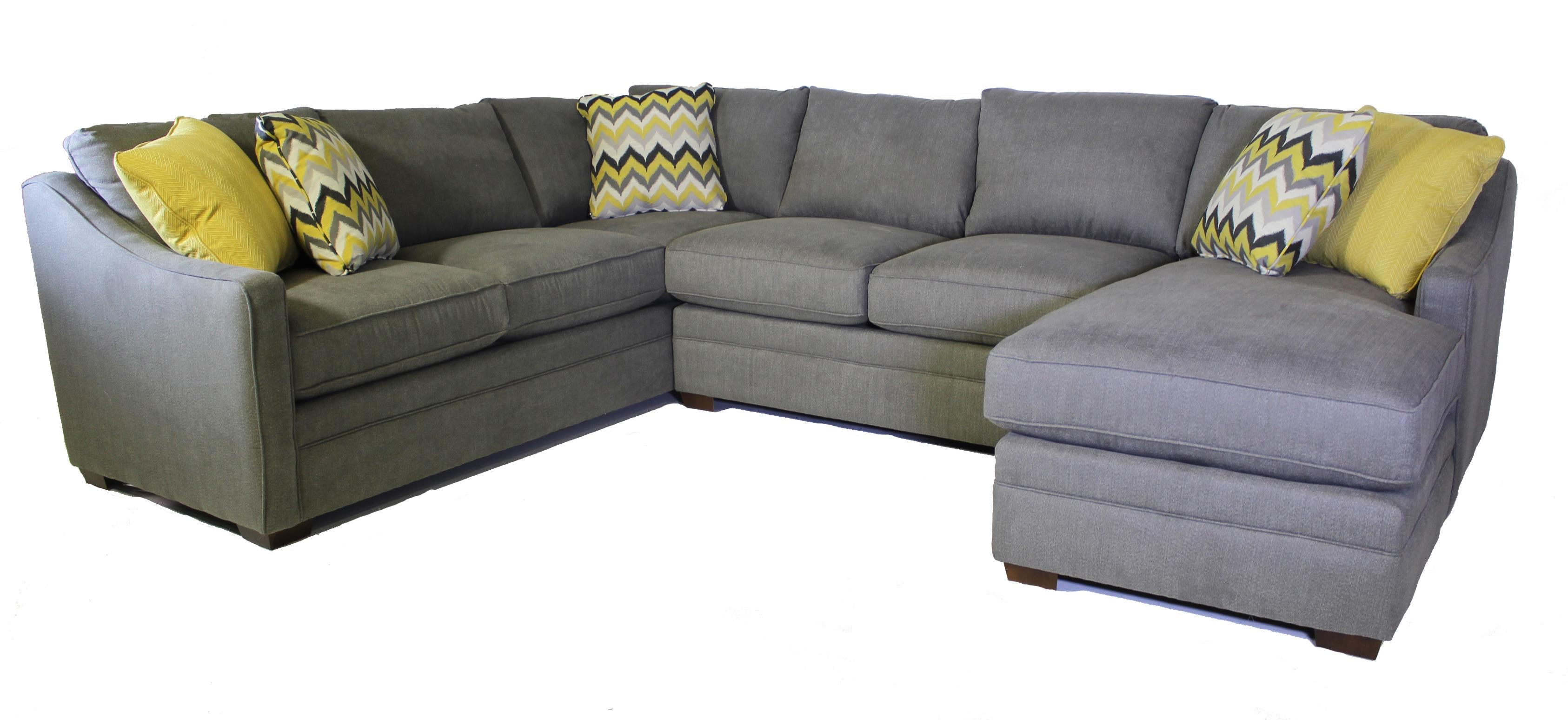 Craftmaster F9 Custom Collection Sectional Sofa Old Brick