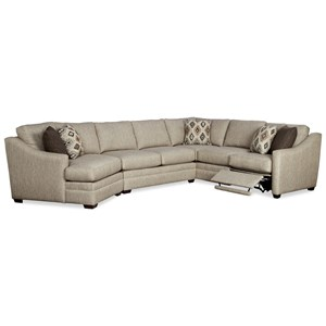 3 Pc Sectional Sofa w/ RAF Recliner