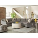 Craftmaster F9 Custom Collection 3 pc Sectional Sofa - Item Number: F933256+33+21-Wanderer-41