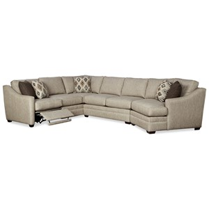 3 Pc Sectional Sofa w/ LAF Recliner
