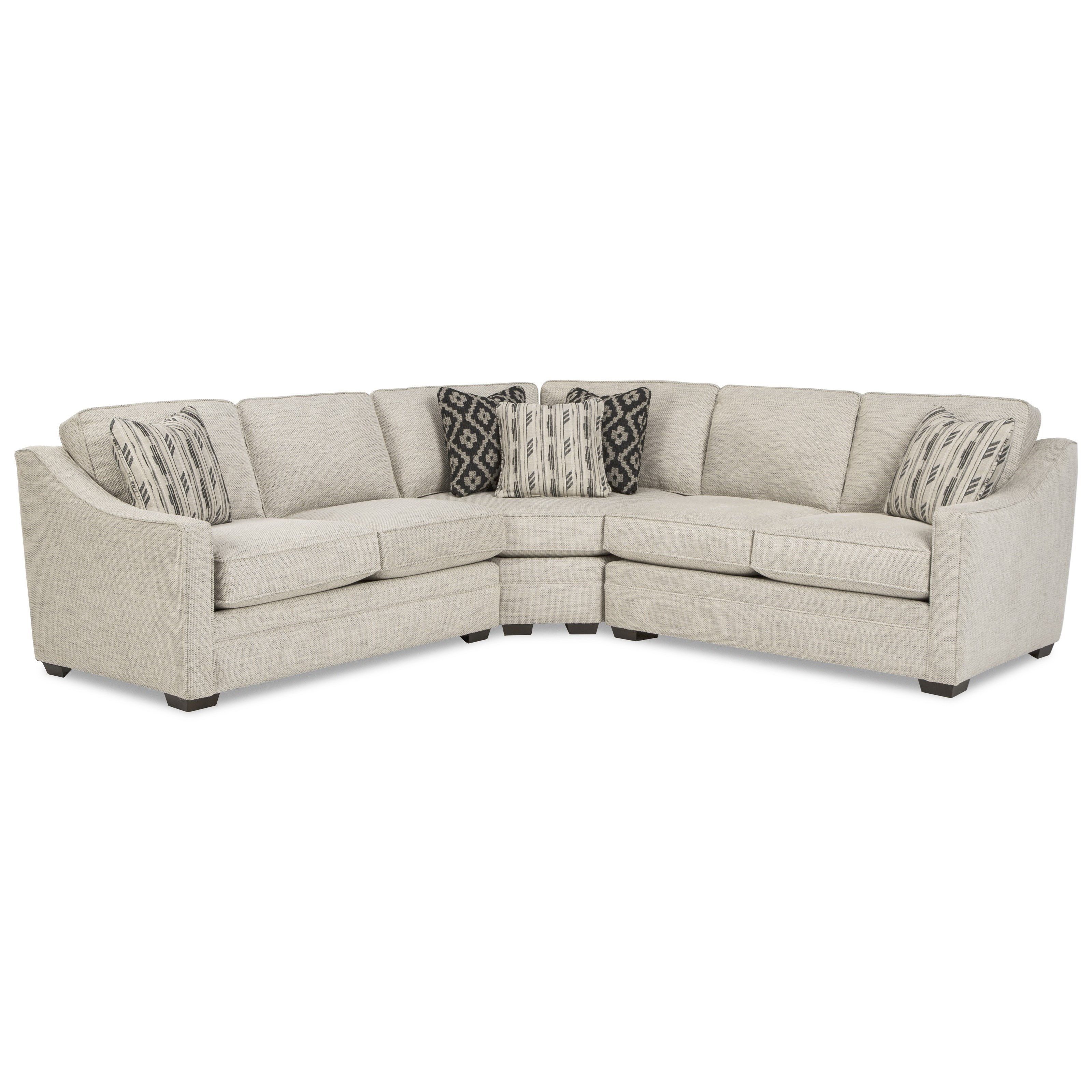 F9 Custom Collection Customizable 3-Piece Sectional by Craftmaster at Stoney Creek Furniture