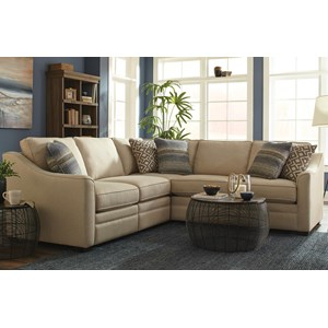 Custom 2 Pc Sectional w/ Recliner