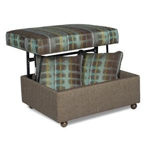 Storage Ottoman w/ Pillows