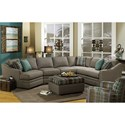 Craftmaster F9 Custom Collection <b>Customizable</b> 3-Piece Sectional with LAF Cuddler - F9XXX22+33+55-PARALLEL-22