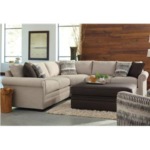 Craftmaster F9 Custom Collection u003cbu003eCustomu003c/bu003e 3-Piece Sectional  sc 1 st  Furniture Dealer Locator - Find your furniture : craftmaster sectional - Sectionals, Sofas & Couches