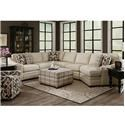 Craftmaster F9 Custom Collection <b>Custom</b> 3-Piece Sectional - Item Number: F9XXX56+33+21-PARALLEL-22