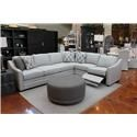 Craftmaster F9 Custom Collection Kaydence 2 Piece Sectional w/RAF Power Recli - Item Number: GRP-F943-2PC-SECT-W RAF-POWER
