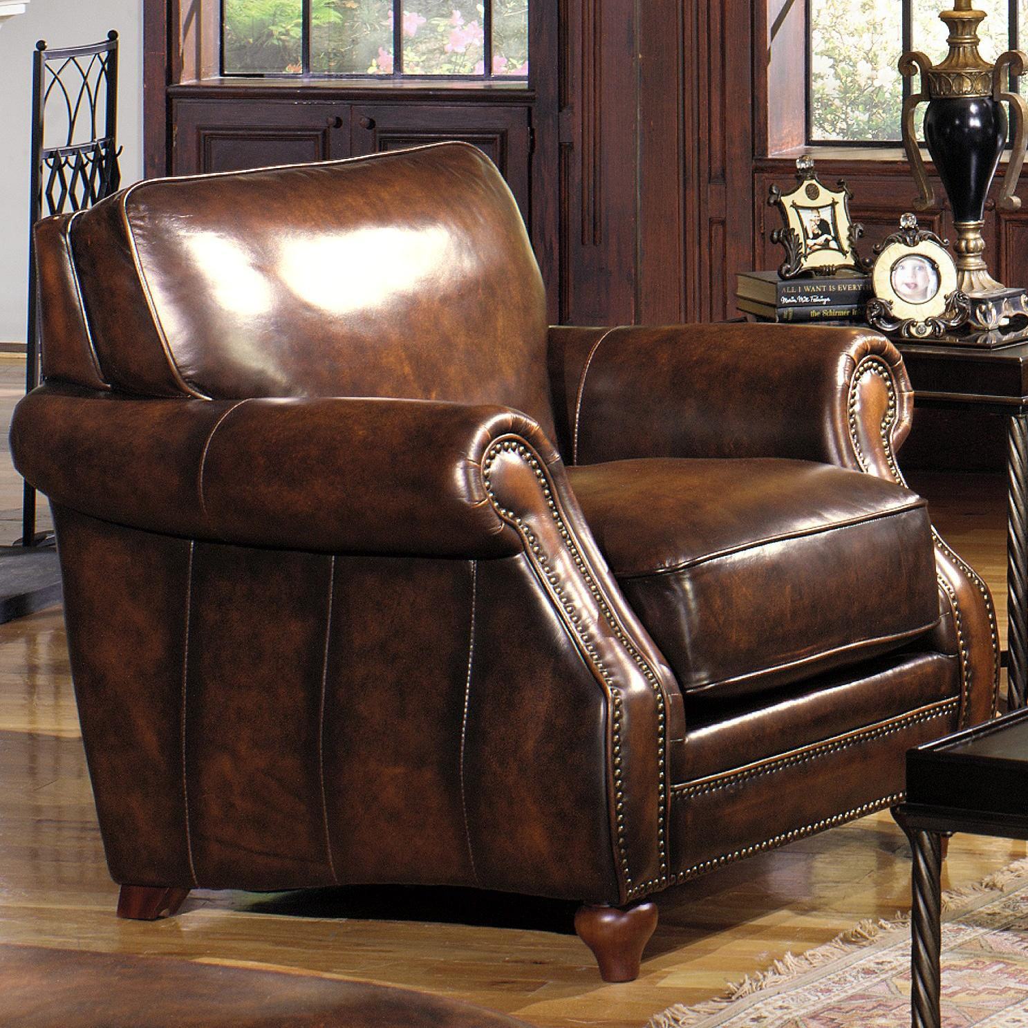 Hickorycraft L121550 Traditional Leather Stationary Chair