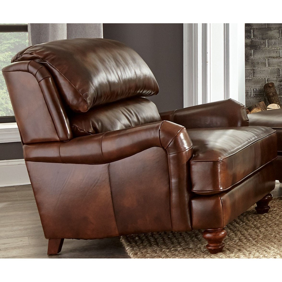 Craftmaster L162250 Craftmaster Leather Chair - Item Number: L162210Tinsely-09
