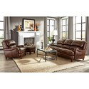 Craftmaster L162250 Craftmaster 100% Leather Traditional Sofa