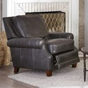 Craftmaster L164050 Transitional Leather High Leg Reclining Chair with Nailheads