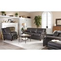 Craftmaster L164050 Transitional Leather Chair with Nailhead Border