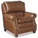 Craftmaster L164650 Traditional Leather High Leg Recliner with Bun Feet and Nailhead Trim