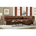 Craftmaster L164650 Two Piece Leather Sectional Sofa
